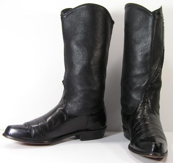 TOCADOS Vintage botas, Made in Italy, tamaño de la mujer 7