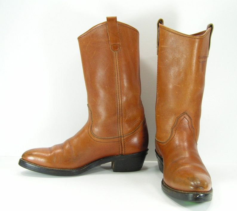 1d21a70a03992 cowboy boots womens 10 honey brown vintage Mason union made usa leather  western cowgirl