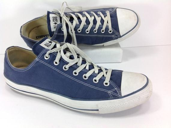 15b85a9a6a4 converse sneakers shoes mens 14 D chuck taylor blue canvas all