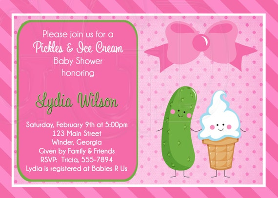 Pickles Ice Cream Baby Shower Pickles And Ice Cream Etsy