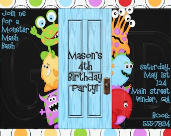 Monster mash invite, Monster birthday party, Monster Birthday Invitation, monster printable invite, little monster invite, -Digital File
