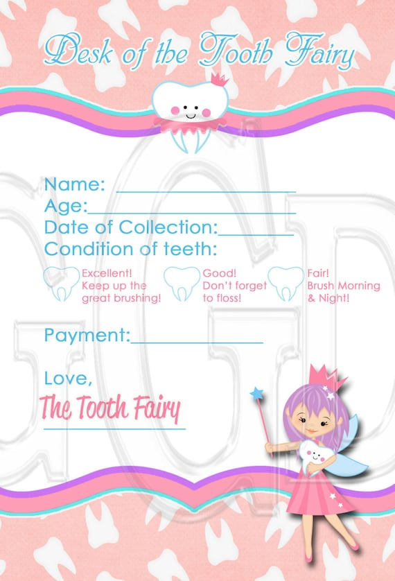 picture about Printable Tooth Fairy Receipt known as Enamel Fairy Receipt, fast enamel fairy, teeth fairy printable, enamel fairy, PRINTABLE Electronic History Quick Down load