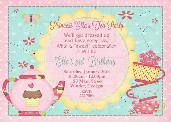 Tea Party Geburtstagsfeier Tea Partyeinladung verkleiden | Etsy