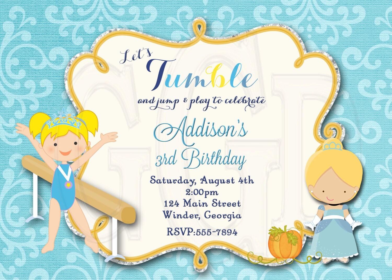Cinderella birthday party little gym Cinderella Gymnastics | Etsy