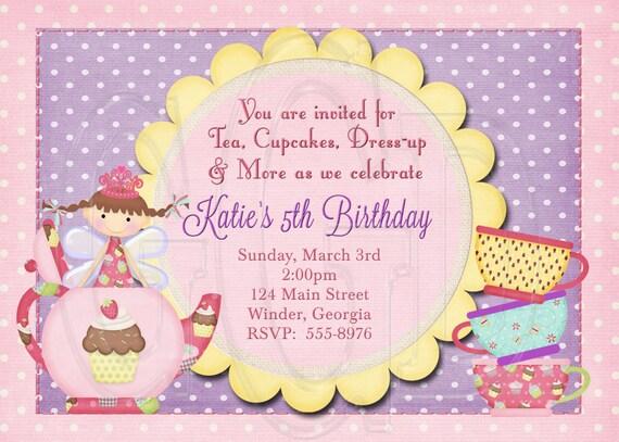 Fee Tea Party Einladung Geburtstag Fee Kostümparty Fee
