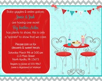Soda Pop Ice Cream Baby Shower, Sprinkle Invitation, soda fountain invite, ice cream shop invite, soda fountain theme, icecream-Digital File