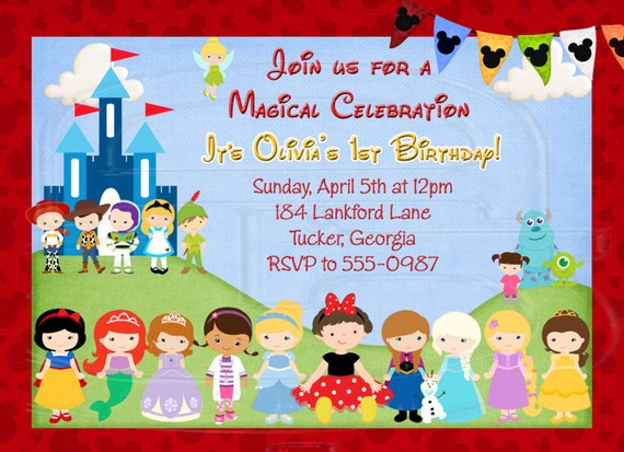 Magical Character Invitation Disney World Invite