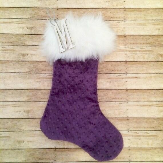 image 0 - Purple Christmas Stocking