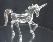 Small prancing glass unicorn