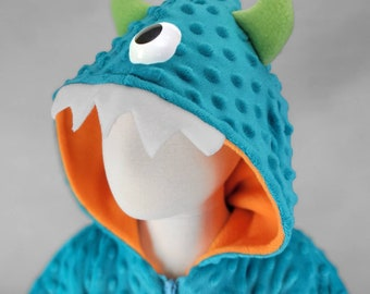 Newborn carseat cover to toddler carseat poncho   Monster