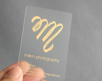 200 business cards frosted plastic stock with gold or 100 business cards frosted plastic stock with gold or silver matte or glossy metallic foil free rounded corners reheart Gallery