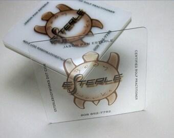 100 Visitenkarten Klare Transparente Kunststoff Lager 20 Etsy