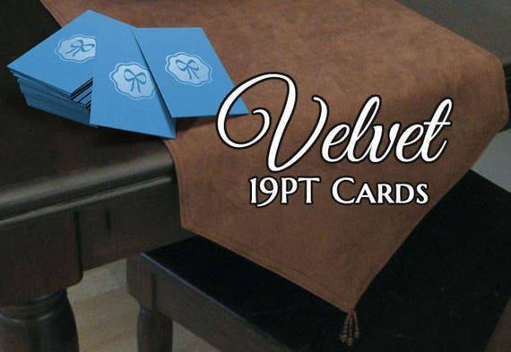 100 Cartes De Visite Velours Lamine Suede PT 19
