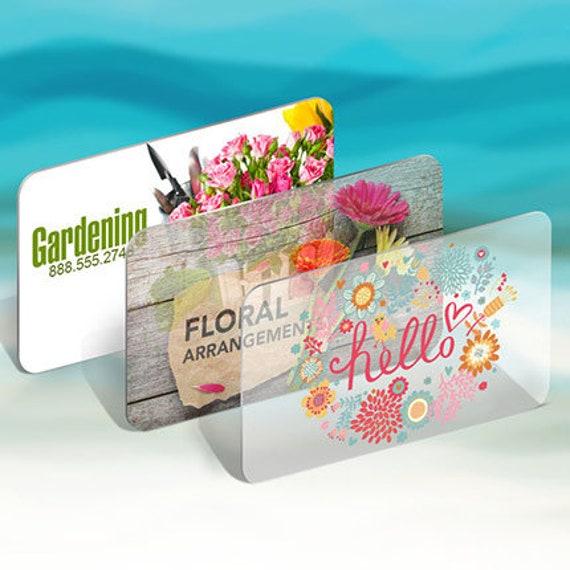 250 Visitenkarten Klar Transparent Kunststoff Lager 20 Pt Dicke 2 5 X 2 5 Quadratische Soziale Karten Sehen Durch Opak Farbe Benutzerdefinierte