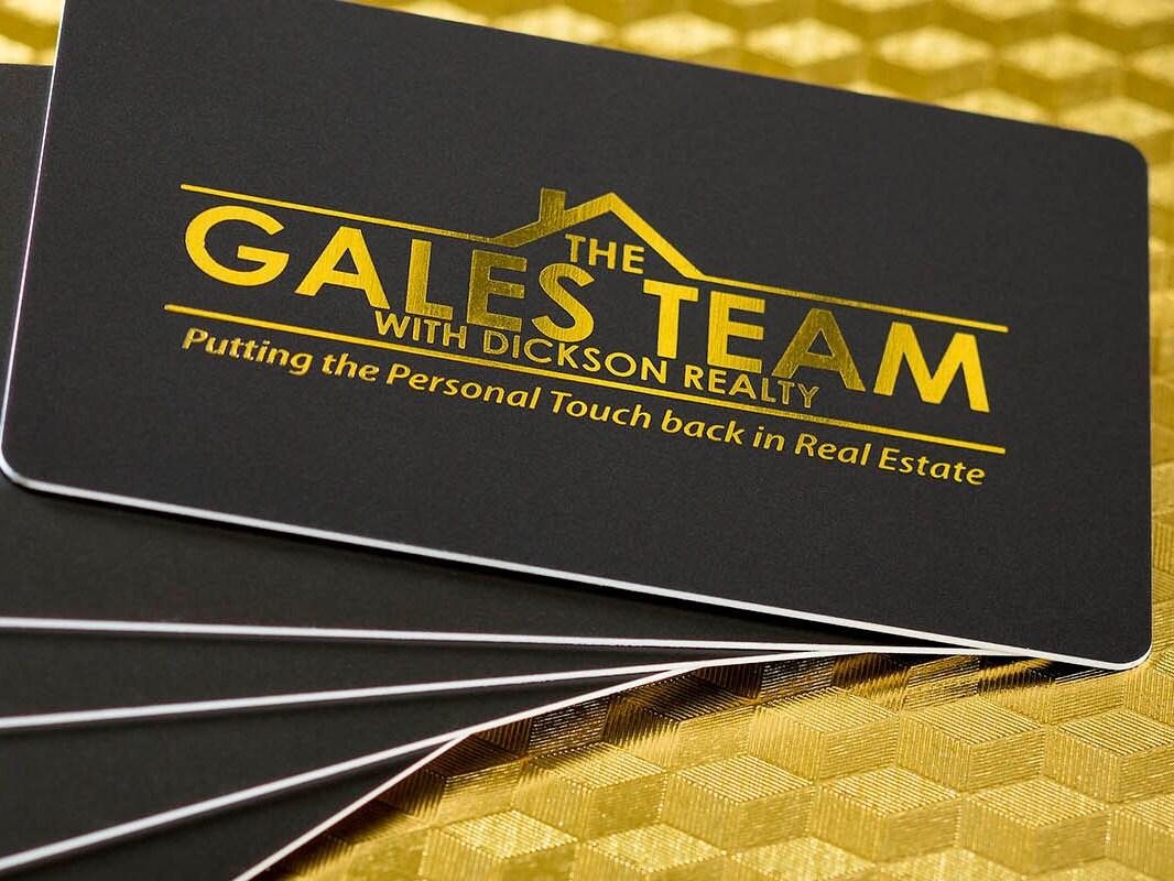 300 Business Cards tags   300 mil 300PT white opaque plastic PVC   Metallic  foil gold silver copper rose   30.3075