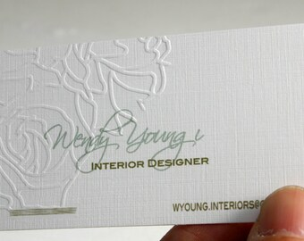 200 business cards raised ink 16 pt heavy linen stock 200 business cards ink press embossing 16pt heavy linen stock custom printed reheart Images