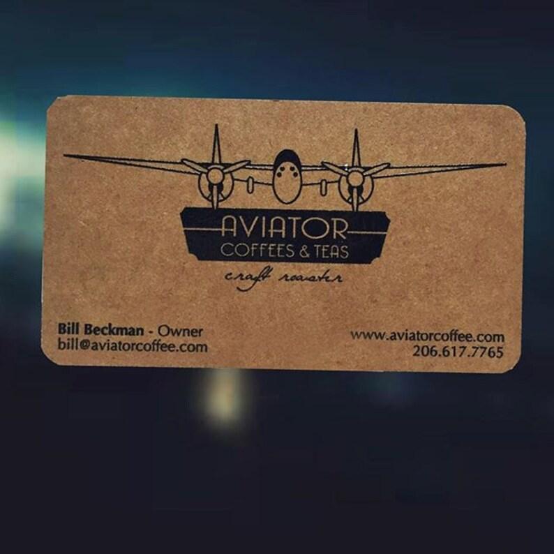 200 Cartes De Visite Ou Des Etiquettes Papier Kraft Brun 13