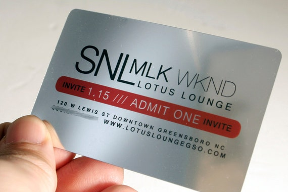 200 Business Cards Silver Plastic Stock With Rounded Corners Etsy