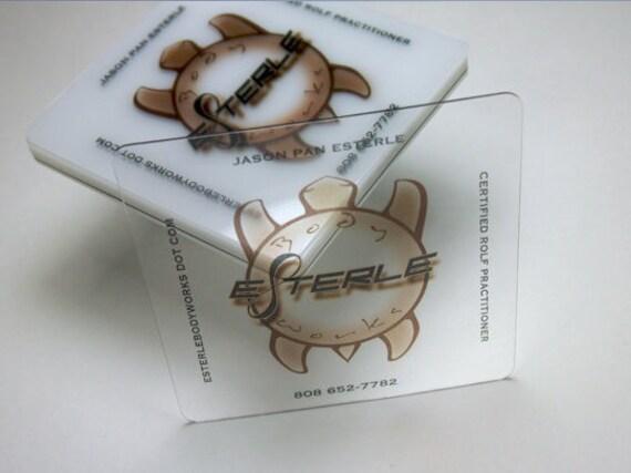 100 Visitenkarten Klare Transparente Kunststoff Lager 20 Pt Dick 2 5 X 2 5 Platz Soziale Karten Vollfarb Frei Abgerundete Ecken
