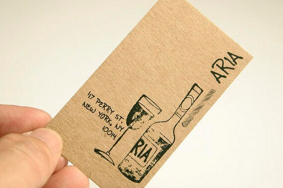 200 Cartes De Visite Ou Etiquettes PT 13 Kraft Brun