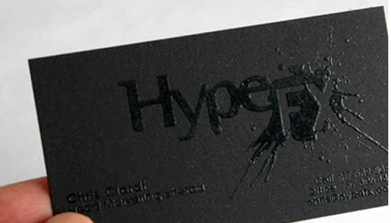ampliar - Raised Lettering Business Cards