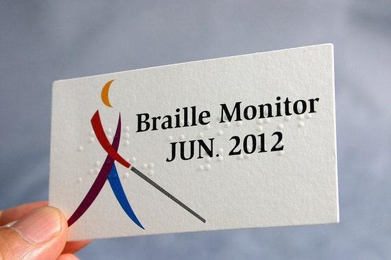 200 Cartes De Visite Braille 11 PT Mat Textur Stock