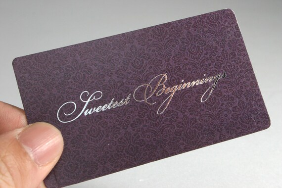 200 business cards metallic foil stamped 16 pt heavy etsy image 0 colourmoves