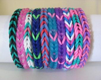 Rainbow Loom Bracelet Fishtail Pattern Solid Colors You