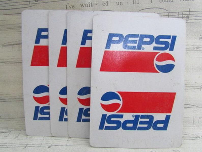 Set of 10 Vintage Pepsi Playing Cards