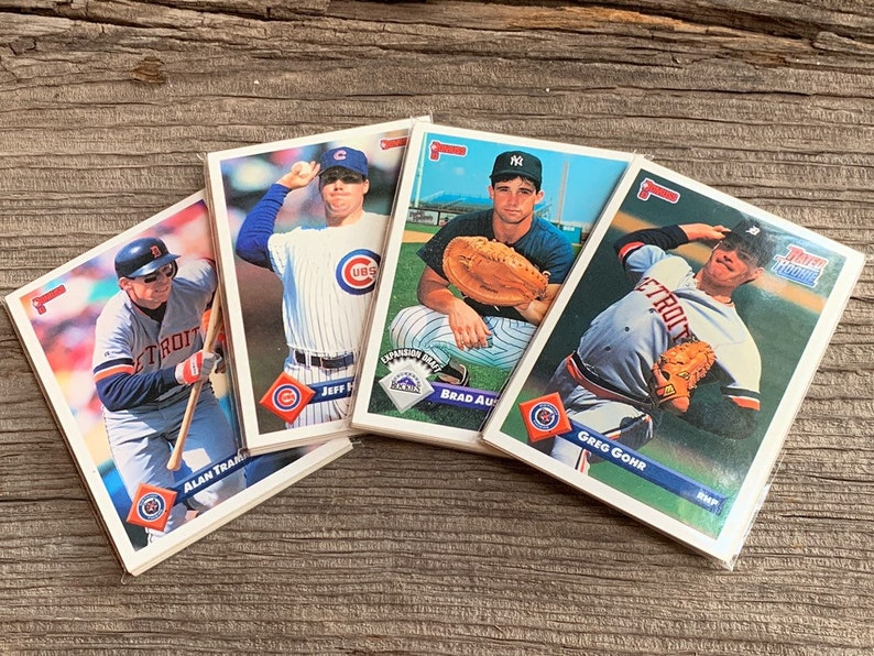 Vintage Baseball Cards 10 Collectible Trading Card Vintage Sports Card