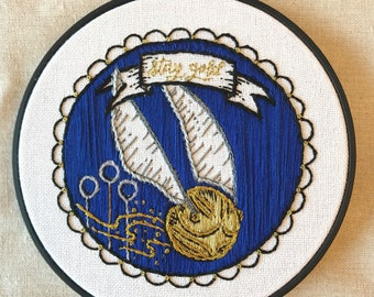 Golden Snitch Hand Embroidery