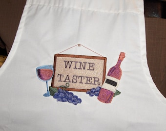 Wine Taster Apron-Embroidered-Beautiful gift