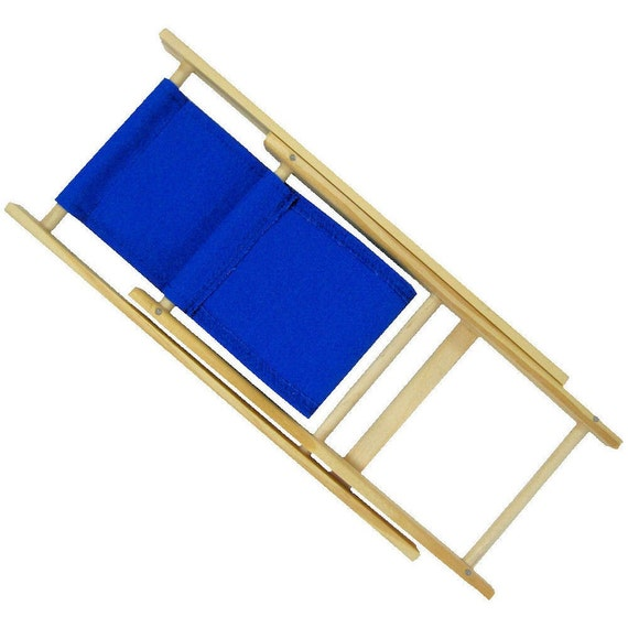 Superb Toy Wooden Folding Lounge Chair Royal Blue Fabric For Stuffed Animals Dolls Action Figures Evergreenethics Interior Chair Design Evergreenethicsorg