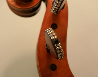 """Set of Violin Pegs with Swarkovski Crystals - """"The Luxe"""""""