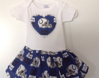 Indianapolis Colts Inspired Infant Dress