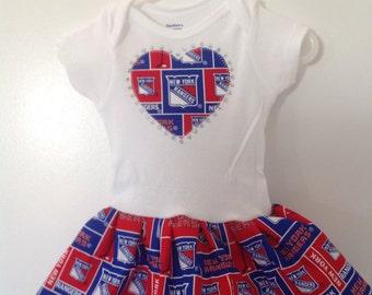 New York Rangers Inspired Infant Dress