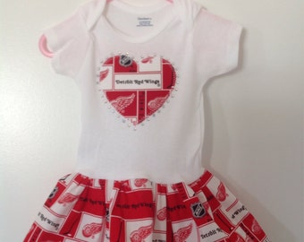 Detroit Red Wings Inspired Infant Dress