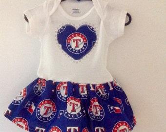 Texas Rangers Inspired Dress