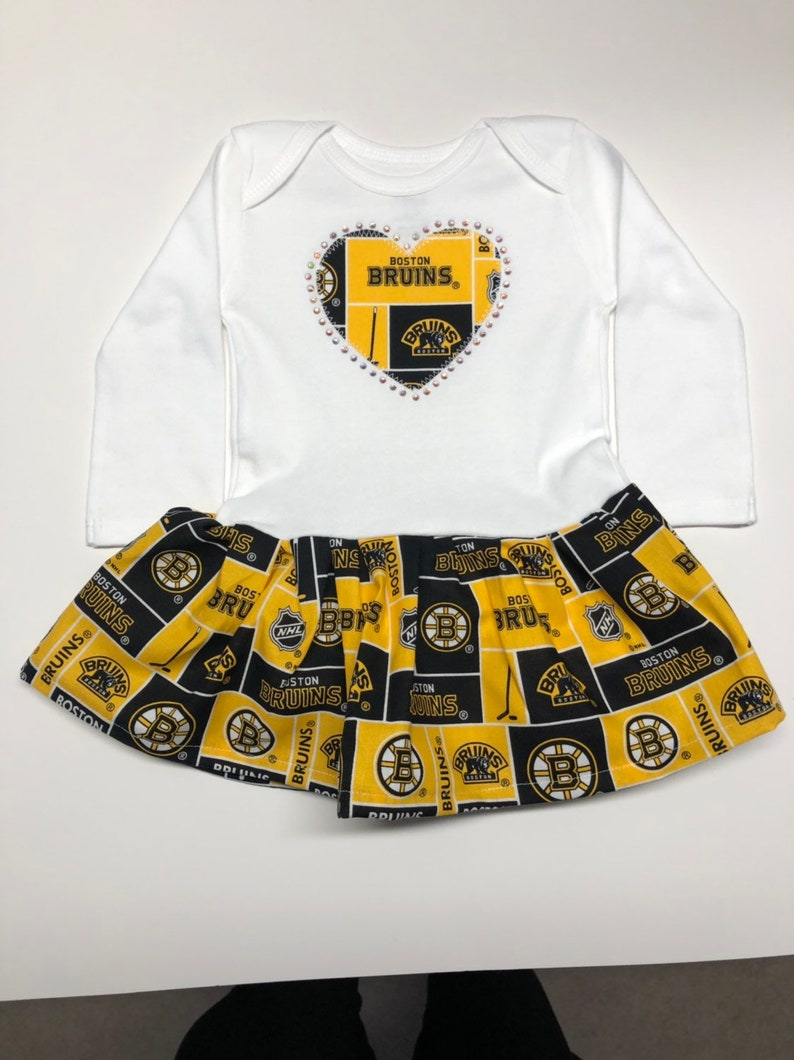 huge discount b2cc3 f8121 Boston Bruins Inspired Infant Dress