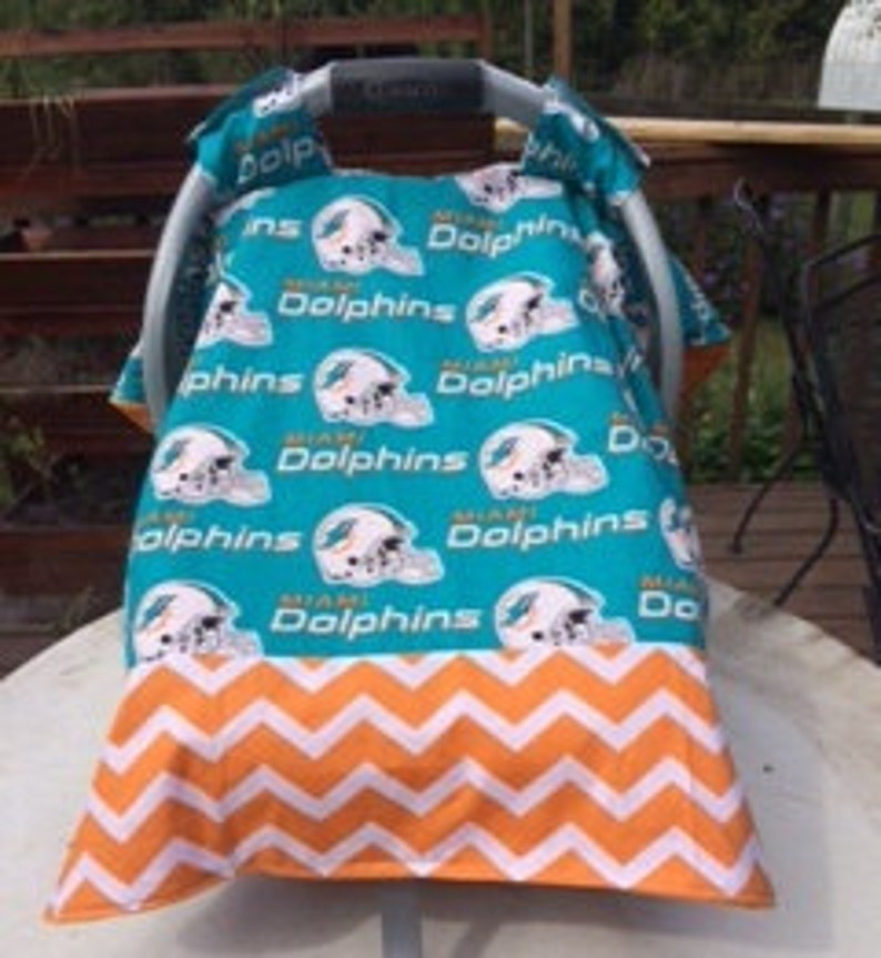 Peachy Miami Dolphins Inspired Infant Seat Canopy Car Seat Tent Cover Pabps2019 Chair Design Images Pabps2019Com