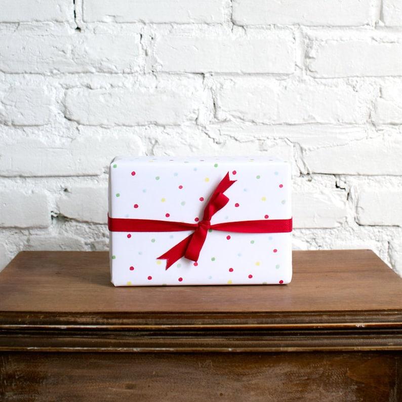 celebration confetti gift wrap paper image 0
