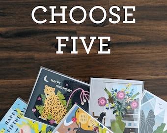 Choose Five Cards