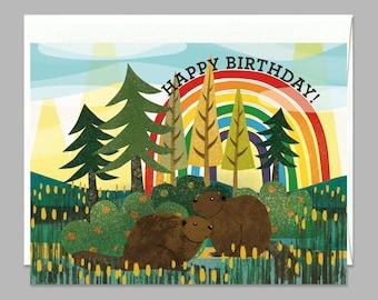 Beaver Friends Happy Birthday Greeting Card