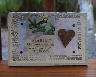 FLY - Mixed Media w/ Heart - Small But Mighty Series 4 x 6