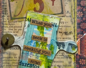 """A Great Offer - Small But Mighty Mixed Media Series - 3 1/2"""" x 6"""" x 3/4"""""""