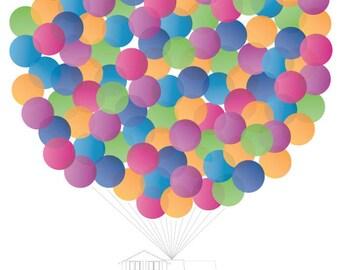 Up, Up & Away! Ballon Invitation