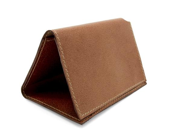 Portefeuille pour homme beige à trois volets, portefeuille Monogram, clair portefeuille marron - l'Arcade