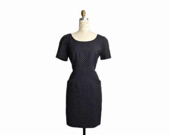 black polka dot dress | 90 black dress