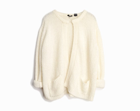 ivory boucle cardigan | nubby sweater