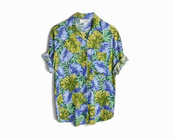 1990s tropical print shirt